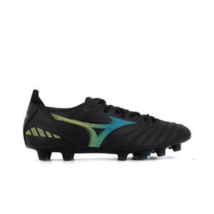 Mizuno Morelia Neo 3 Pro MD - Botas de fútbol de piel de canguro Mizuno MD para césped natural o artificial de última generación - negras - pie derecho
