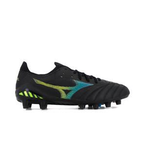 Mizuno Morelia Neo 3 Beta Elite MD - Botas de fútbol de piel de canguro Mizuno MD para césped natural o artificial de última generación - negras - pie derecho