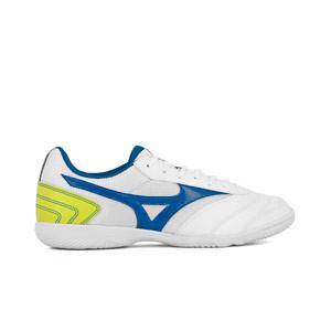 Mizuno MRL Sala Club IN - Zapatillas de fútbol sala Mizuno suela lisa IN - blancas - pie derecho
