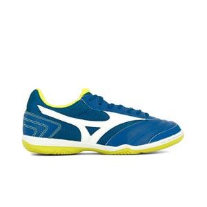 Mizuno MRL Sala Club IN - Zapatillas de fútbol sala Mizuno suela lisa IN - azules - pie derecho