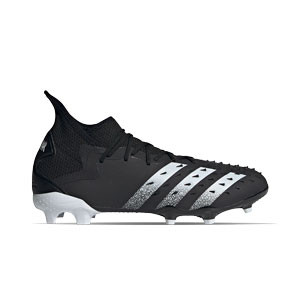 adidas Predator FREAK .2 FG - Botas de fútbol con tobillera adidas FG para césped natural o artificial de última generación - negras - pie derecho
