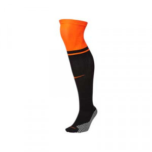 Medias Nike 2a Holanda 2020 2021 Stadium - Medias segunda equipación Nike selección holandesa 2020 2021 - negras y naranjas - frontal