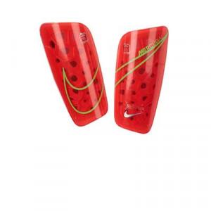 Nike Mercurial Lite - Espinilleras de fútbol Nike con mallas de sujeción - rosas rojizas - frontal