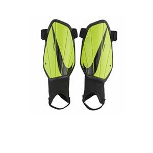 Nike Charge niño - Espinilleras de fútbol infantiles Nike con tobillera protectora - amarillas flúor - frontal