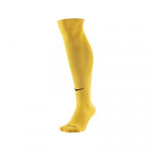 Medias Nike Classic 2 acolchados - Medias de fútbol acolchadas Nike - amarillas - frontal