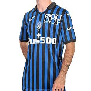 Camiseta Joma Atalanta 2020 2021 - Camiseta primera equipación Joma del Atalanta BC 2020 2021 - azul y negra - frontal