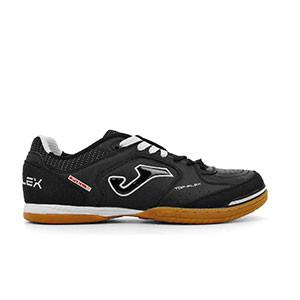 Joma Top Flex 301 - Zapatillas de fútbol sala de piel Joma suela lisa - Negro - derecho