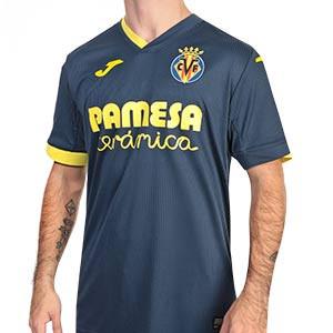 Camiseta Joma Villarreal 2a 2020 2021 - Camiseta segunda equipación Joma Villarreal CF 2020 2021 - azul marino - frontal