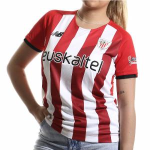 Camiseta New Balance Athletic Club femenino 2021 2022 - Camiseta primera equipación New Balance del Athletic Club de Bilbao femenino 2021 2022 - roja y blanca - frontal