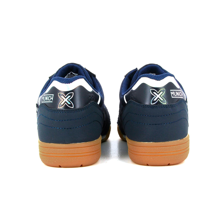 1cfd1ab1d03 Zapatillas de fútbol sala Munich suela lisa - Azul Marino   Blanco