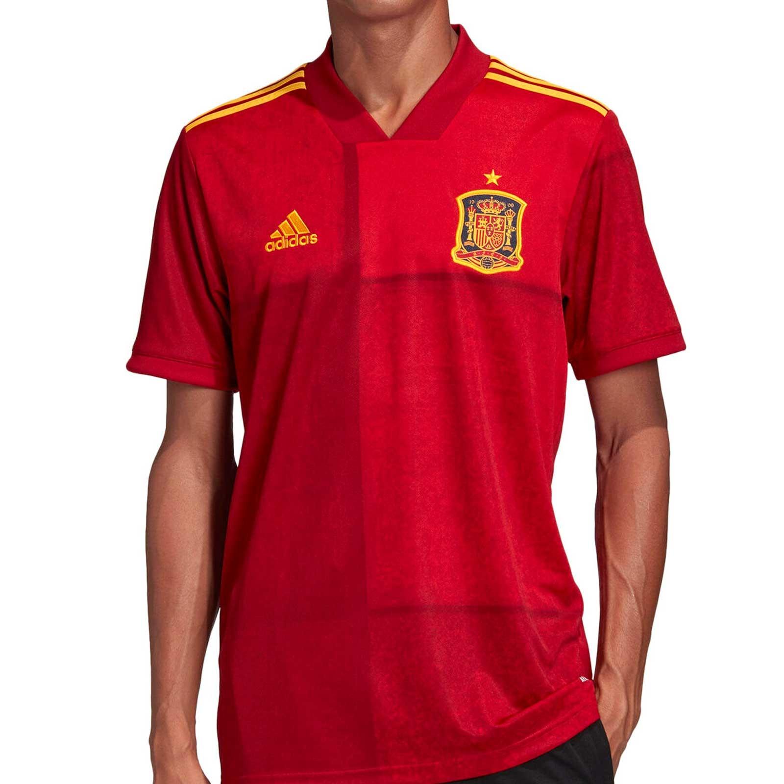 apodo Retorcido cada  Camiseta adidas España 2020 2021 roja | futbolmania