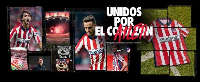 Encuentra la nueva equipación del Atlético de Madrid, para la temporada 2020 - 2021, todo lo que necesitas lo encuentras en futbolmania.