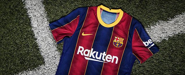 Encuentra la nueva equipación del FC Barcelona, para la temporada 2020 - 2021, todo lo que necesitas lo encuentras en futbolmania.