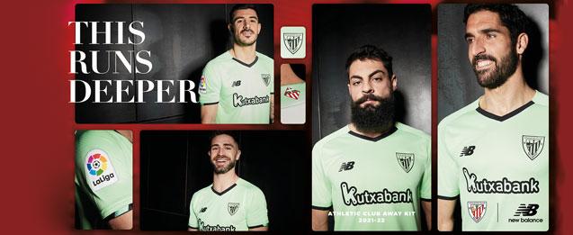 Nueva segunda equipación del equipo Athletic Club Bilbao temporada 2021 2022 para adulto.