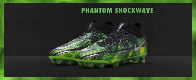 Las nuevas botas de fútbol Nike Phantom GT Shockwave de color verde