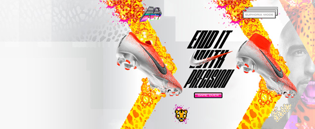 Encuentra entre estas botas de fútbol Nike Mercurial los modelos de la nueva colección Euphoria Mode de botas fútbol Mercurial