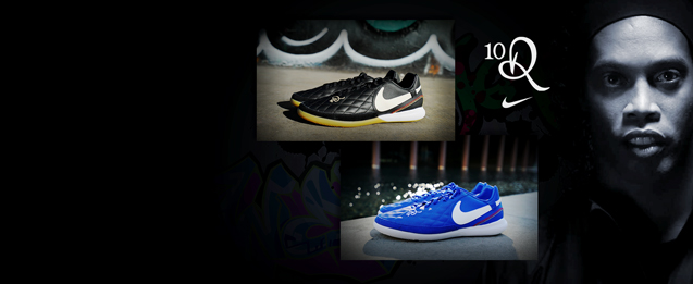 Nuevas zapatillas fútbol sala Nike Tiempo Ronaldinho 2019 en color azul y negro