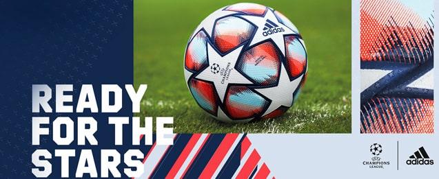 Balón de fútbol adidas de la Champions League 2020 2021 color, blanco y azul UEFA Champions League adidas Finale 20 Pro
