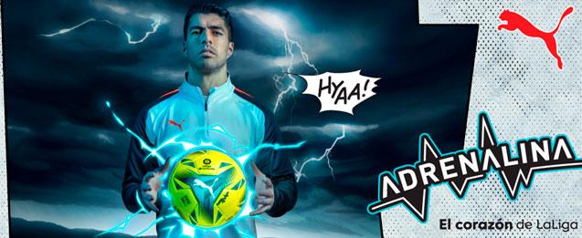 El nuevo balón de la Liga Puma Adrenaline con el que se disputarán los partidos de máxima tensión del campeonato