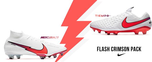 Nuevas botas de fútbol de la colección Nike Flash Crimson Pack del 2020