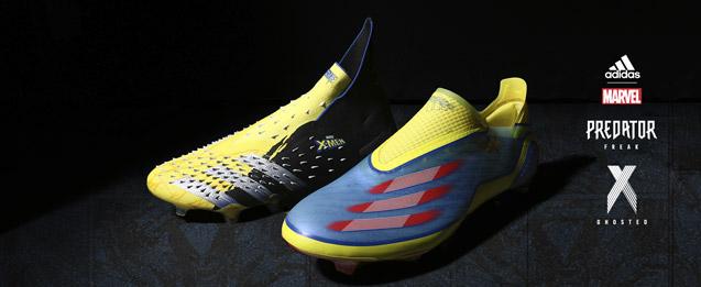 Botas de fútbol adidas Marvel colección botas predator y X.