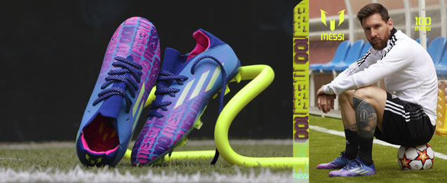 Botas de fútbol para niño adidas X de Leo Messi Messi.