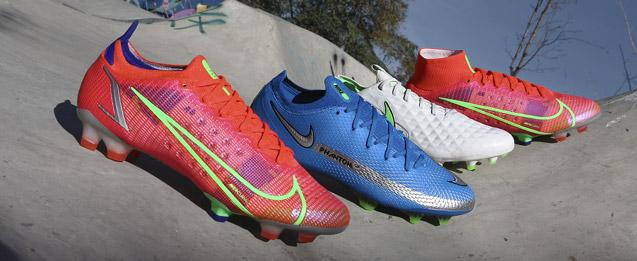 Encuentra las botas de fútbol Nike Spectrum Pack todas Phantom, Mercurial, Tiempo