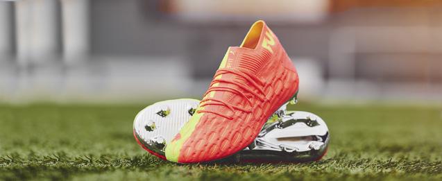 Las nuevas botas puma Future color verde y rosa fluor