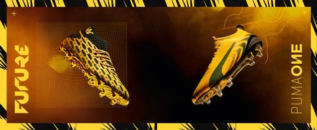 botas de fútbol Puma Spark pack Future y One color amarillo