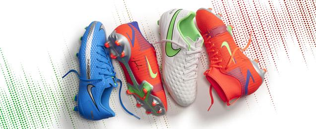 botas de fútbol linea tiempo, Phantom, Mercurial, Tiempo de la colección Spectrum pack para niño
