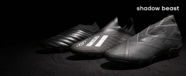 Nuevas botas de adidas colección adidas shadow Beast, las últimas botas adidas color negro