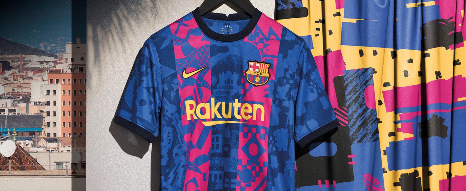 La nueva tercera equipación del FC Barcelona para la temporada 2021 2022