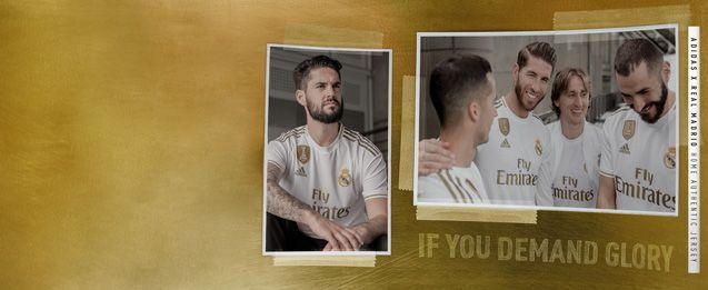 Encuentra todas las equipaciones del Real Madrid, entre ellas la nueva equipación oficial 2020, lo encuentras en futbolmania.