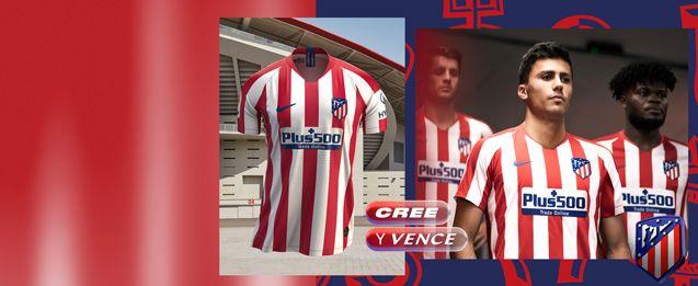 Encuentra todas la equipaciones del Atlético de Madrid, entre ellas la nueva equipación oficial 2020, lo encuentras en futbolmania