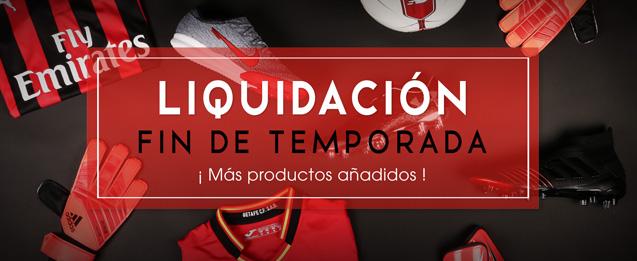 Liquidación fin de temporada futbolmania, más productos añadidos