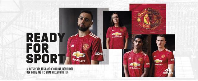 Encuentra la nueva equipación del Manchester United, para la temporada 2020 - 2021, todo lo que necesitas lo encuentras en futbolmania.