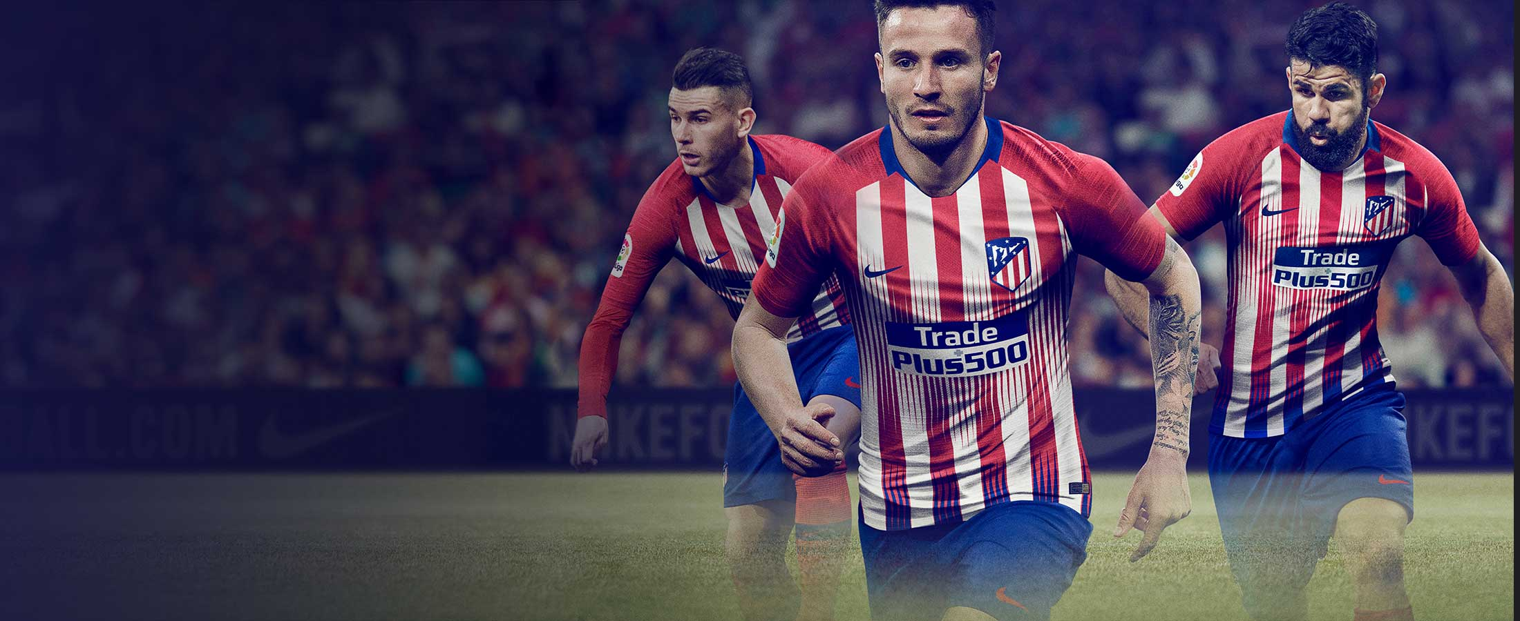 Equipación oficial infantil del Atlético de Madrid 2018