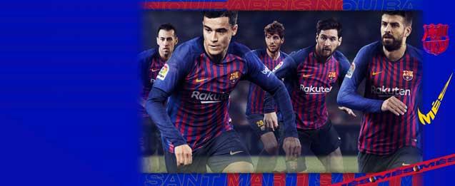 Equipación oficial del FC Barcelona 2019 para niño
