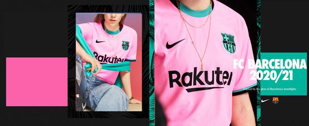 Descubre la nueva camiseta Nike de la tercera equipación del FC Barcelona de la temporada 2020 - 2021