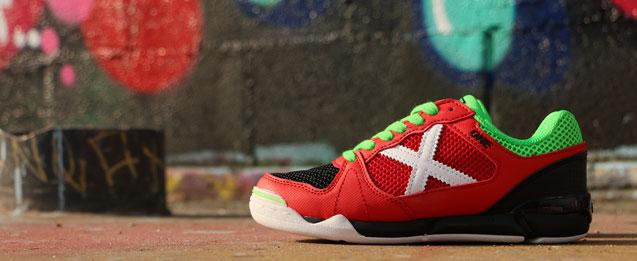 Zapatillas de fútbol sala Munich One color rojo