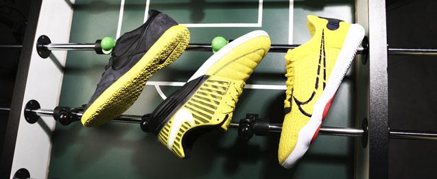 Nuevas zapatillas sala Nike colección Small Sided color amarillos, Premier, Lunar Gato y React Gato