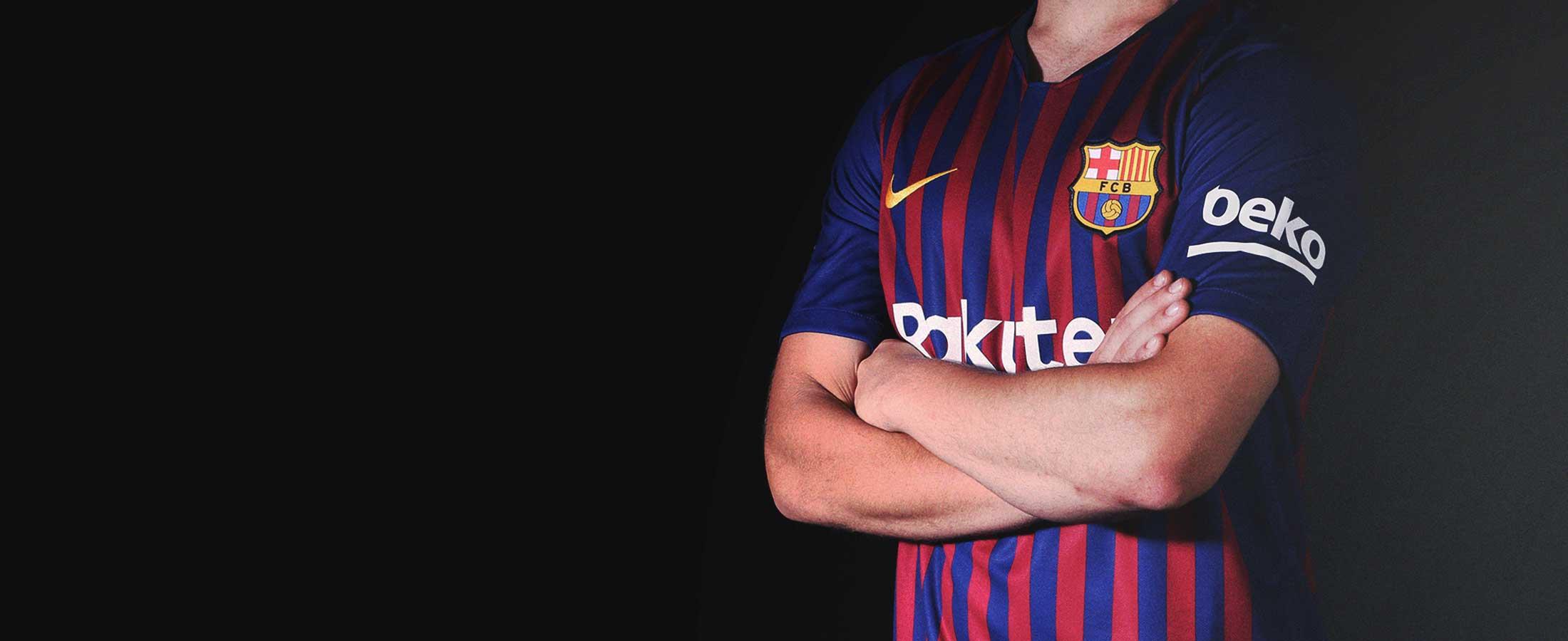 Primera equipación oficial del FC Barcelona