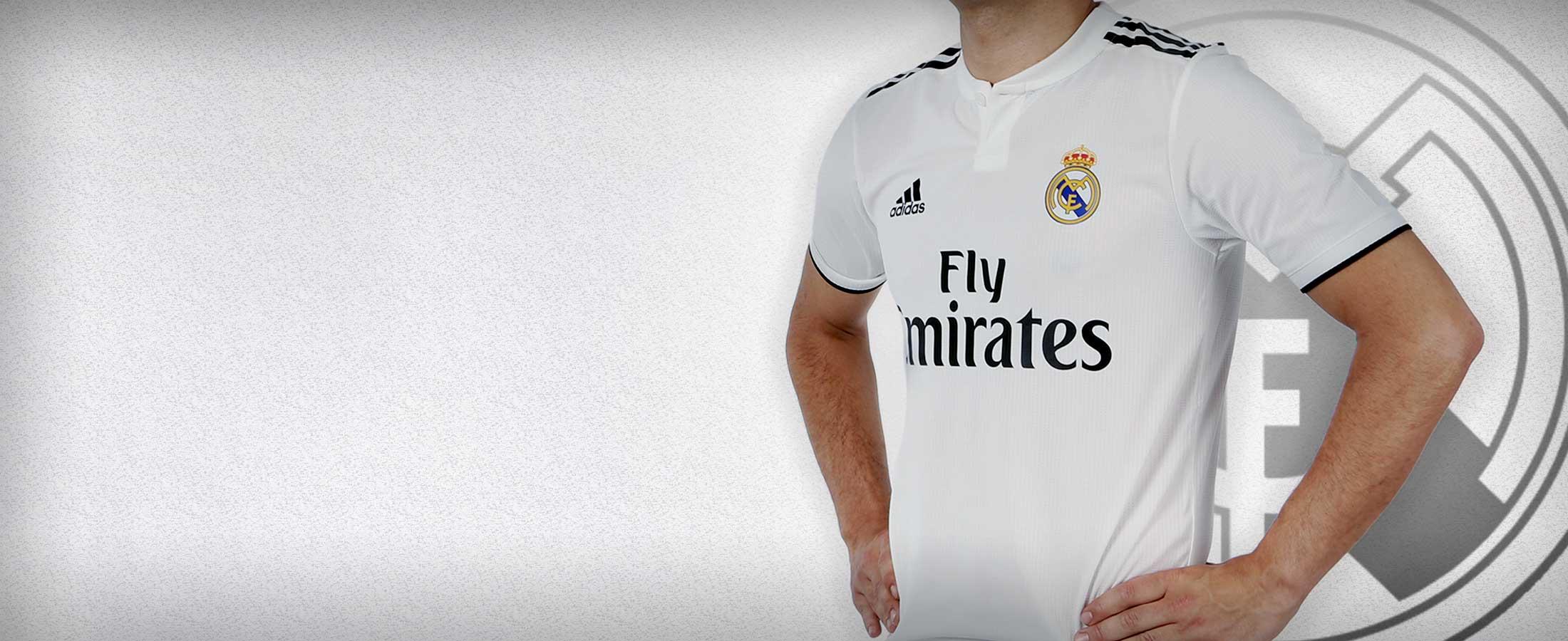 Primera equipación oficial del Real Madrid