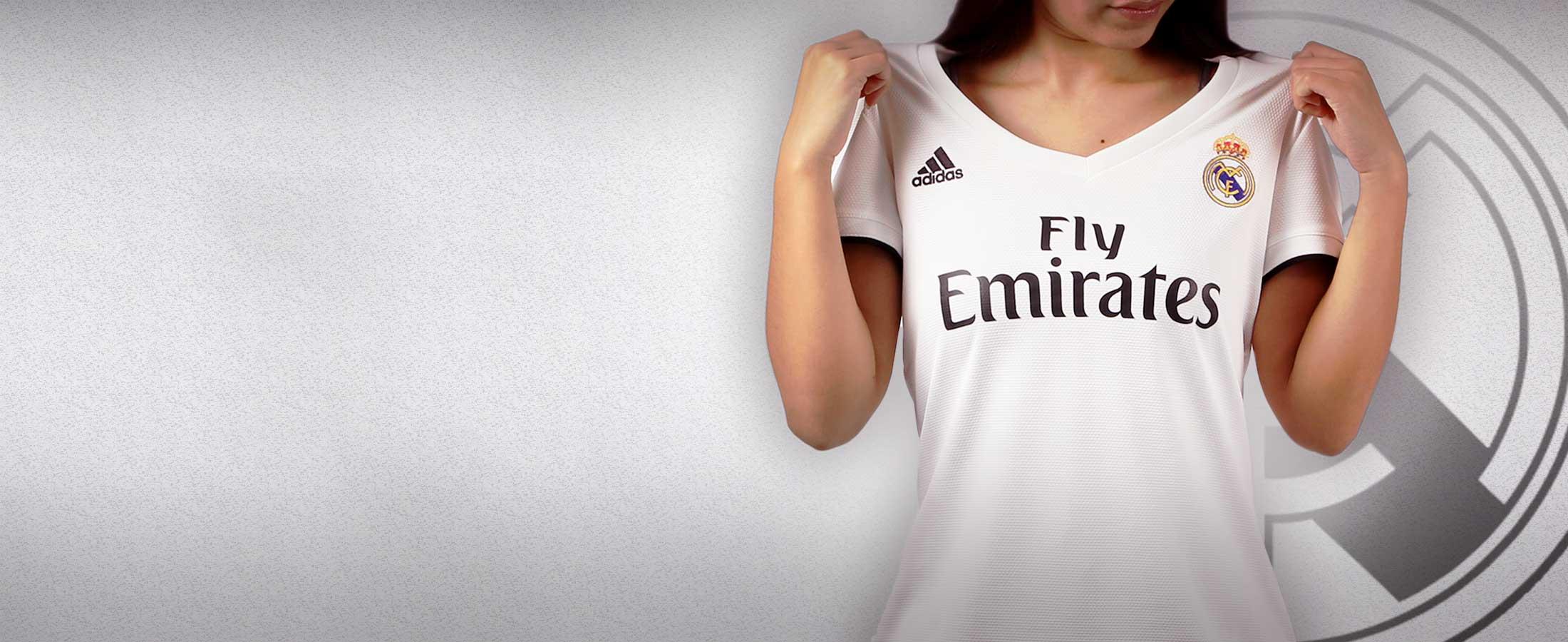 Camiseta oficial mujer del Real Madrid