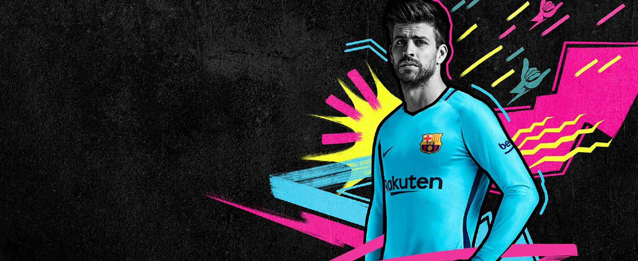 Segunda equipación oficial del FC Barcelona