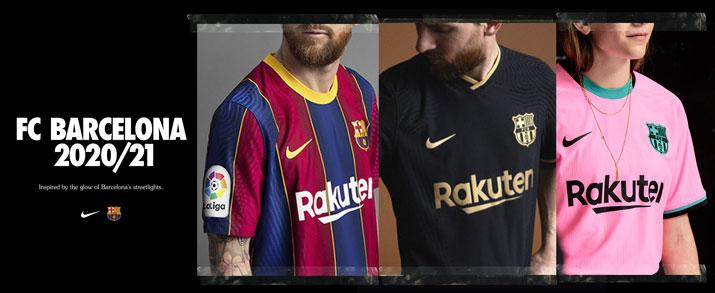 Camisetas del FC Barcelona temporada 2020-2021 para niños