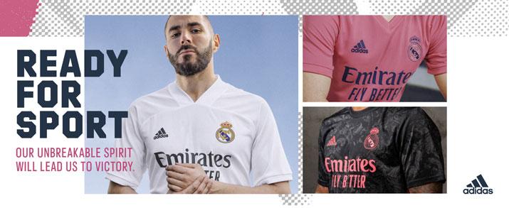 Camisetas fútbol adidas Real Madrid 2020-2021 para niño