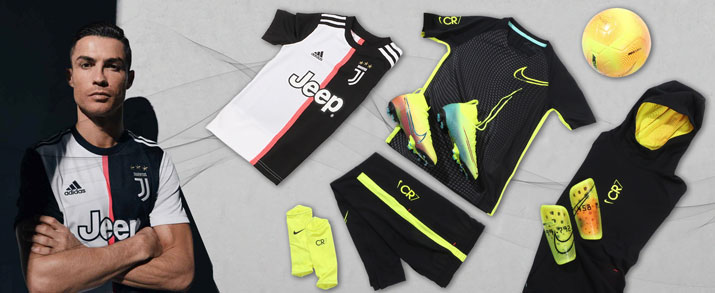 Bodegón de productos del jugador de Juventus Cristiano Ronaldo