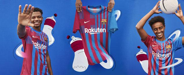 Camisetas del FC Barcelona temporada 2021-2022 para niños