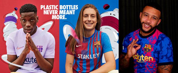 Encuentra la primera, segunda y tercera equipación del FC Barcelona, para la temporada 2021 - 2022, todo lo que necesitas lo encuentras en futbolmania.